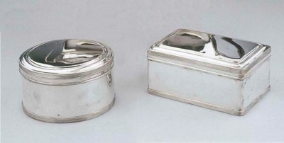A pair of Dutch silver biscuit