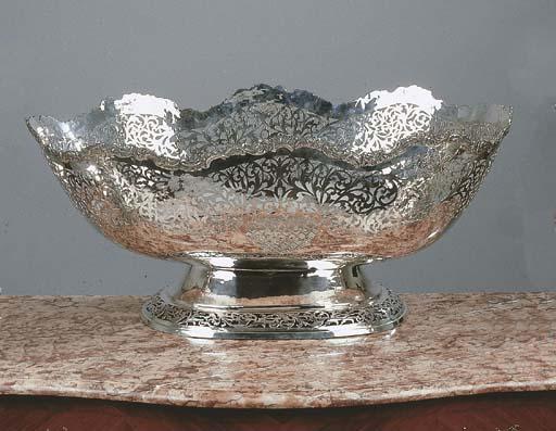 A large silver basket