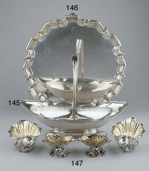 An English silver cake basket