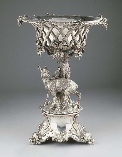 A silver centre-piece