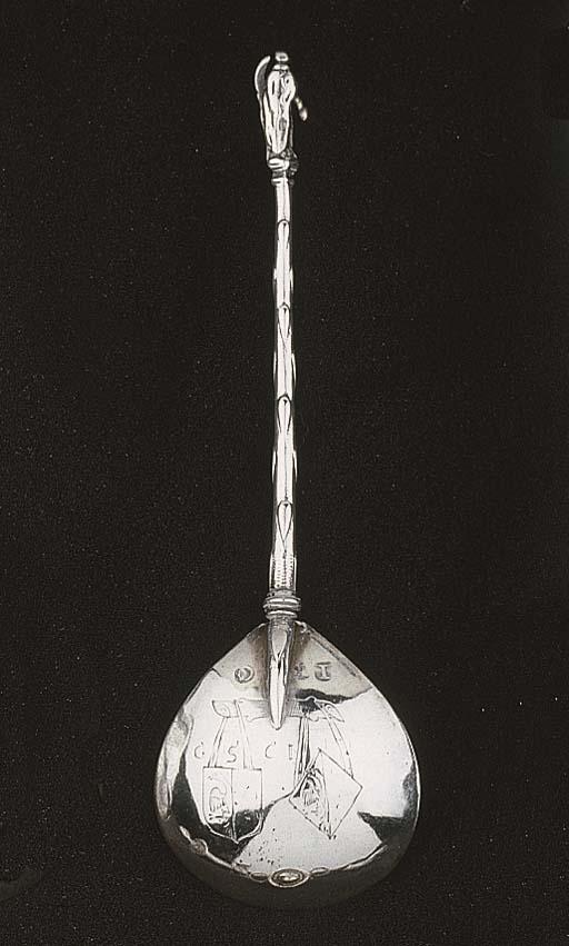 A Dutch silver spoon