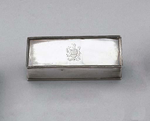 A Dutch silver rectangular box