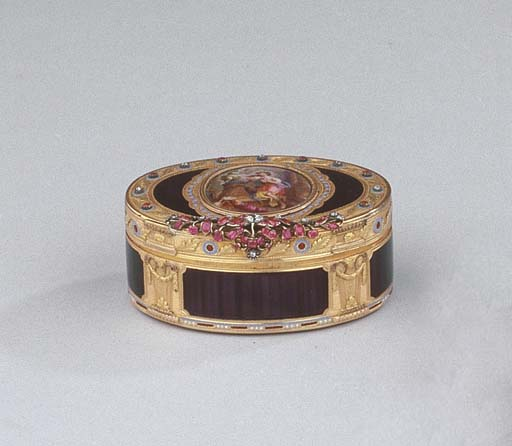A Swiss jewelled gold and enam