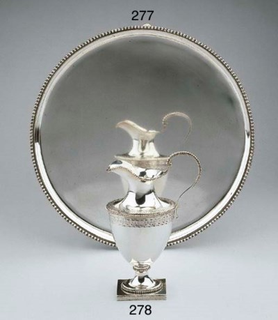 A Dutch silver salver