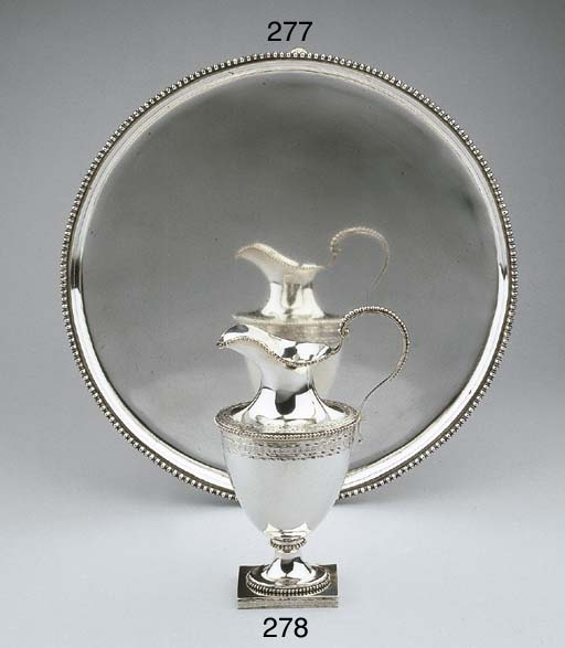 A Dutch silver cream jug