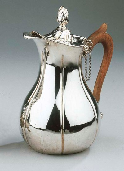 A Dutch silver coffee pot