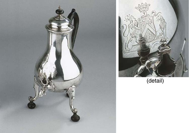 A Dutch silver coffee urn