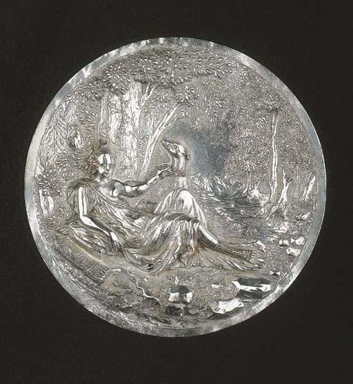 A silver plaquette