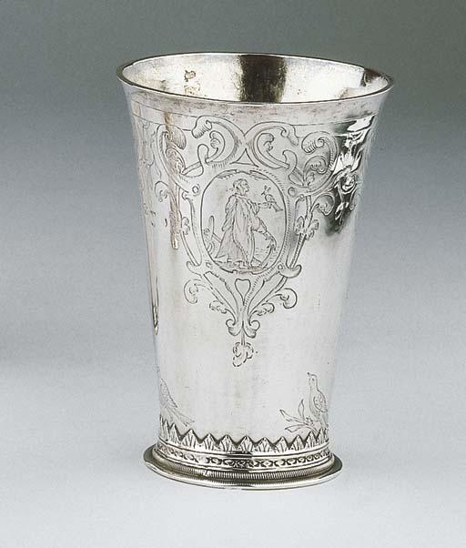 A Dutch silver beaker