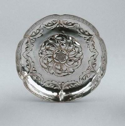 A Dutch silver dish