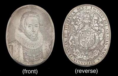 A silver plaque of James I, Ki