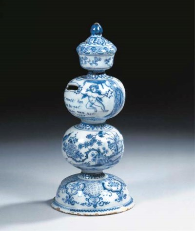 A Dutch Delft dated blue and w