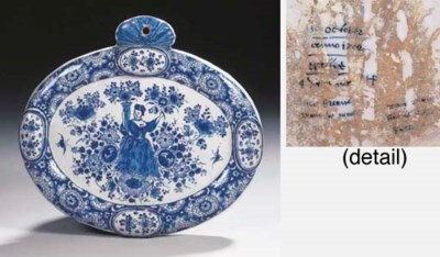 A dated Dutch Delft blue and w