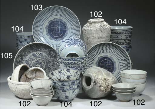 A set of ten 'longevity' dishe