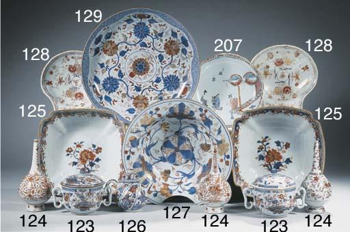 A pair of Imari square bowls