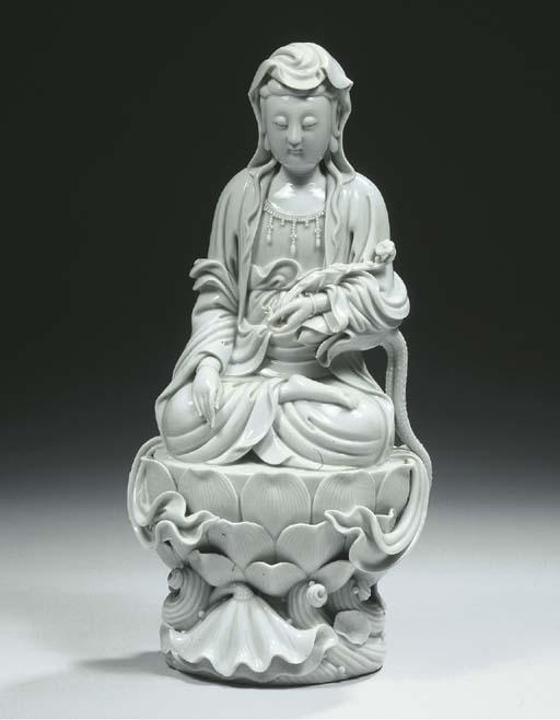 A blanc-de-Chine figure of a G