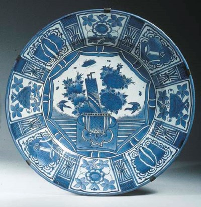An Arita blue and white Kraak