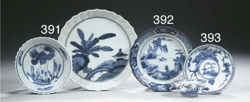 An Arita blue and white dish
