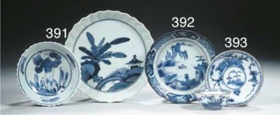An Arita blue and white dish