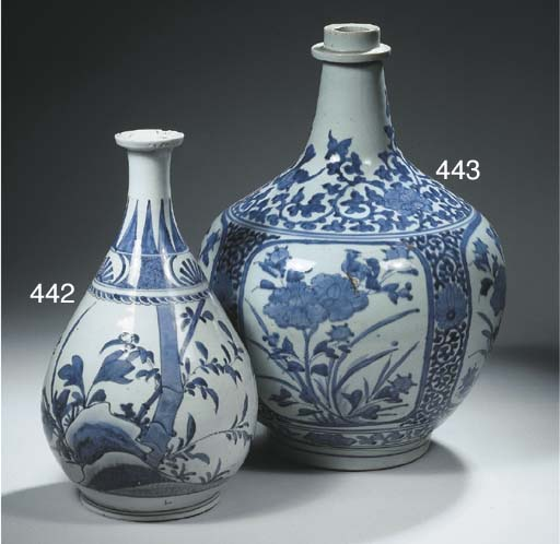 A large Arita blue and white p