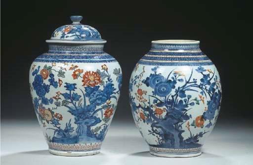 An Arita ovoid jar and a Dutch