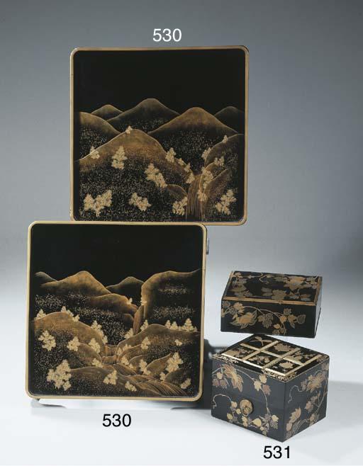 A lacquer incense box, kobako