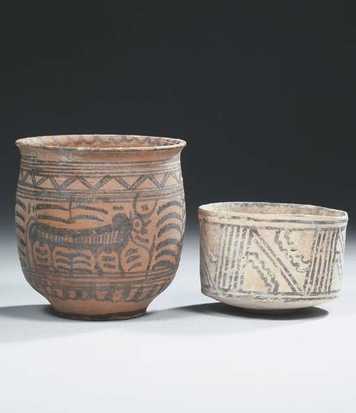 an indus valley pottery jar an