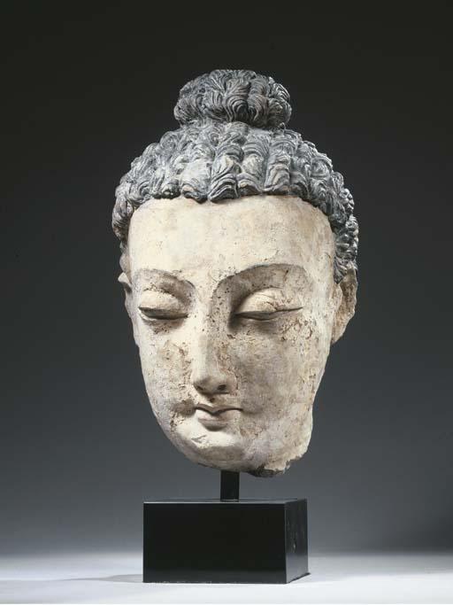 a large gandhara stucco head o