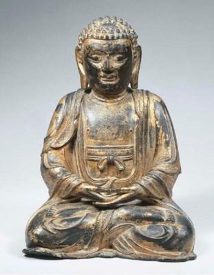 a chinese gilt-bronze figure o