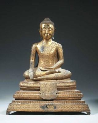 a thai, ratnakosin style, gilt