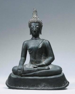 a thai, ayutthaya bronze figur