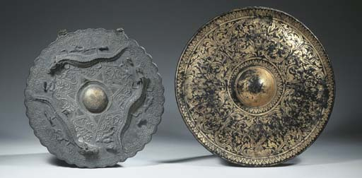 a kalimantan bronze gong and a