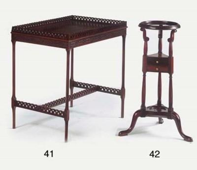 An English mahogany tea-table