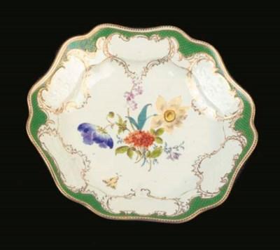 A Meissen porcelain floral dee