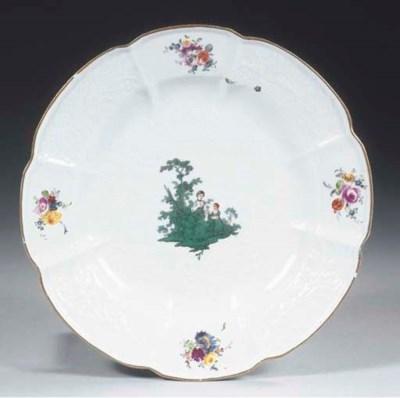 A Meissen porcelain pastoral p