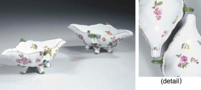 A pair of Meissen porcelain tw