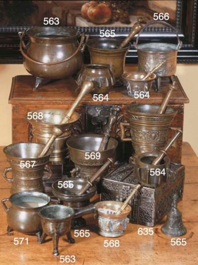 A bronze cauldron