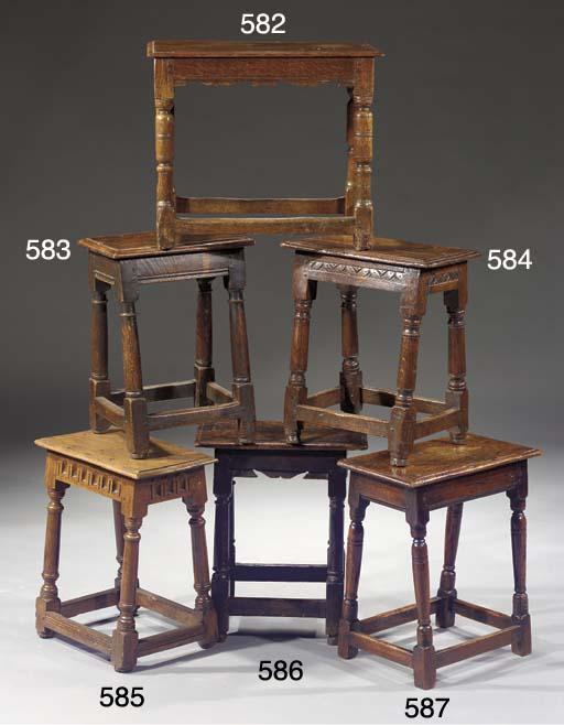 An English oak stool
