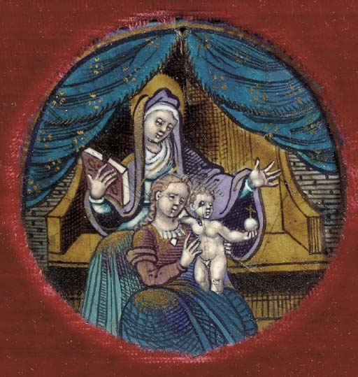 An enamelled placque of Anna S