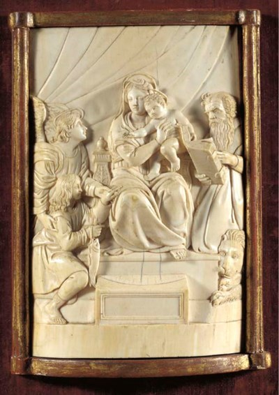 A carved ivory relief of the V