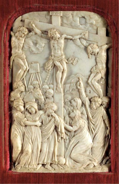 A carved ivory relief of the c