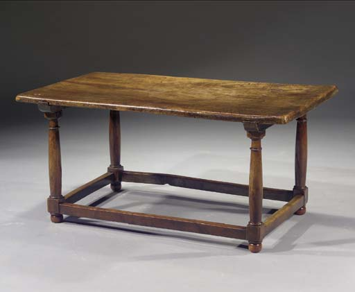 A Spanish chestnut low table