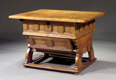 A South German fruitwood and o