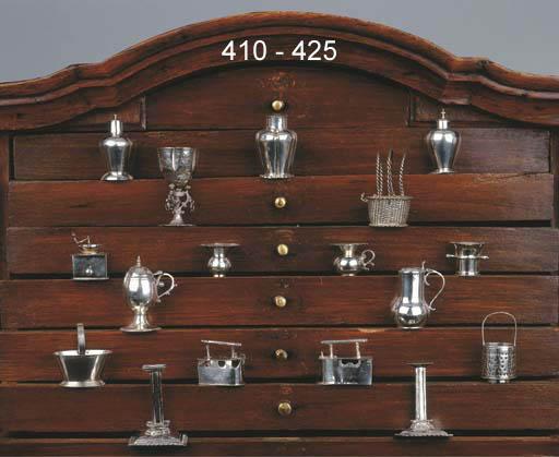 A Dutch silver miniature strai