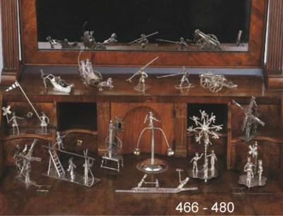 A Dutch silver miniature of th