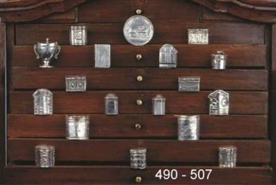 A Dutch silver scent box