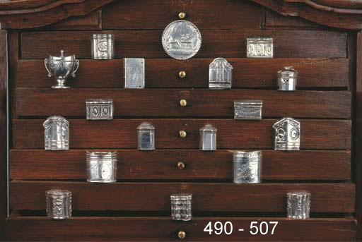 A Dutch silver scent box
