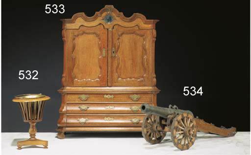 A Dutch bronze miniature canon