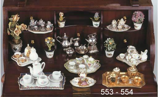 A Dutch silver miniature three