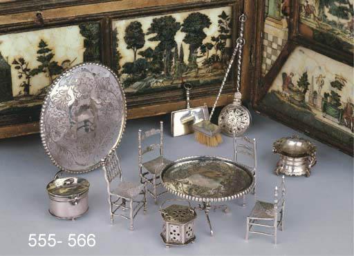 A Dutch silver miniature dustp
